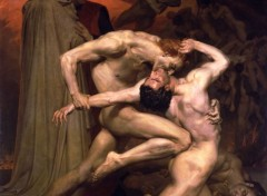 Art - Peinture Dante et Virgile aux Enfers - 1850 - William-Adolphe Bouguereau