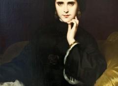 Art - Peinture Jeanne Detourbay, future comtesse de Loynes - 1862 - Amaury Duval