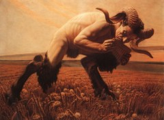 Art - Painting Le Faune - 1923 - Carlos Schwabe