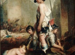 Art - Painting Les Petits patriotes - 1830 - Philippe Auguste Jeanron