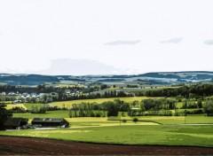 Digital Art Switzerland Coutryside