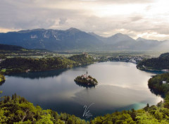 Nature Slovenia : Bled Lake at Dusk
