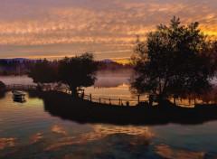 Digital Art et le ciel flamboyait