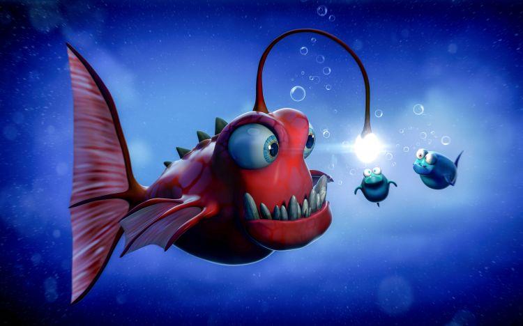 Fonds d'écran Art - Numérique Animaux Angler fish