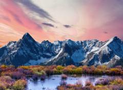 Nature Montagnes roses