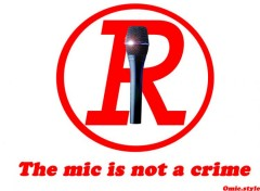 Wallpapers Humor the mic is not a crime