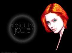 Wallpapers Celebrities Women Angelina Redhead