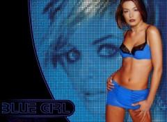 Fonds d'écran Célébrités Femme Blue girl