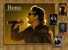 Fonds d'écran Musique Bono in spotlight