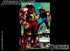 Wallpapers Wolverine Vs Juggernaut Category Wallpaper Comics