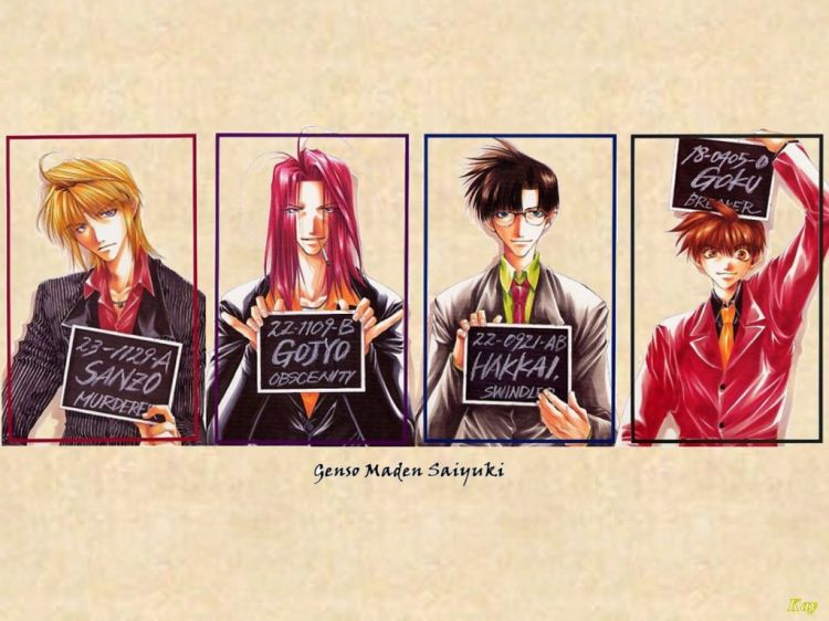 Fonds d'écran Manga Saiyuki Arrestation