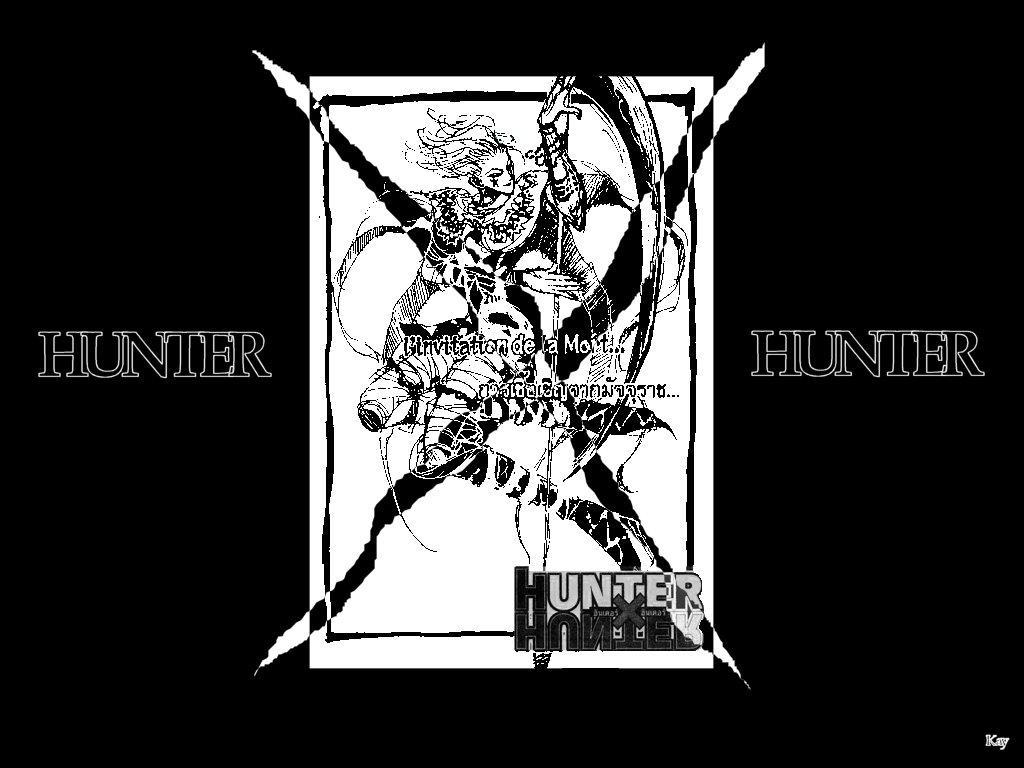 Fonds d'écran Manga Hunter x Hunter Hisoka N&B Faux