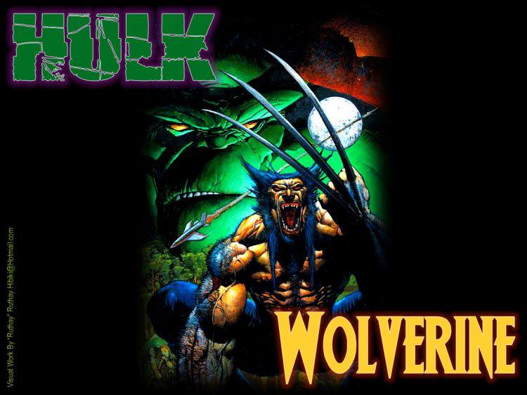Fonds d'écran Comics et BDs Hulk Ruthay Hulk & Wolverine 01
