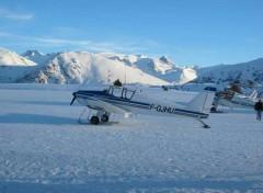 Fonds d'écran Avions Sur Skis, évidemment!
