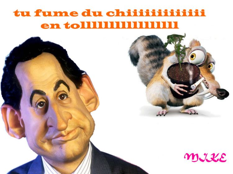 Wallpapers Humor Miscellaneous sarko pas en force