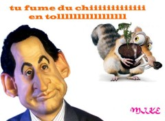 Wallpapers Humor sarko pas en force