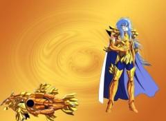 Fonds d'écran Manga Aphrodite chevalier d'or du poisson