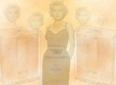 Fonds d'écran Grandes marques et publicité Chanel N°5 et Marilyn Monroe