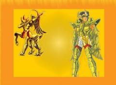 Fonds d'écran Manga Ayoros chevalier d'or du sagitaire