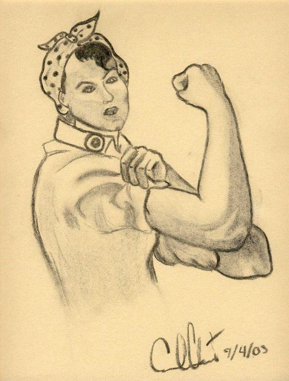 foto de Wallpapers Art - Pencil > Wallpapers Portraits Femme forte by ...