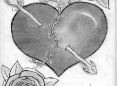 Fonds d'écran Art - Crayon Les rose éternels