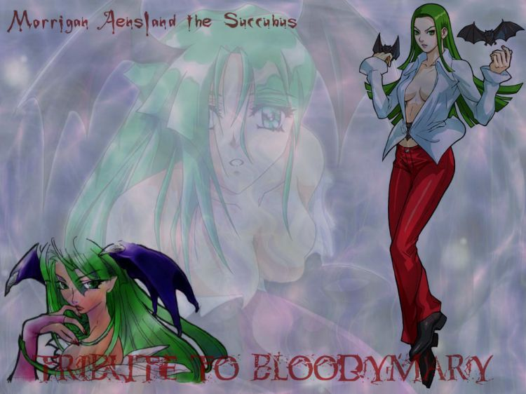 Fonds d'écran Manga Darkstalker Morrigan Aensland the Succubus