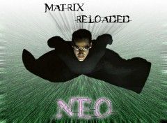 Wallpapers Movies Matrix Reloaded - Flying Neo