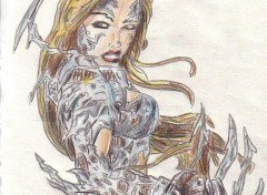 Fonds d'écran Art - Crayon squ.07 witchblade