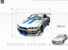 Wallpapers Cars Nissan Skyline GTR R34 (2 fast 2 furious)