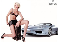 Wallpapers Cars Ferrari + Pin-Up 2