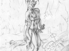 Wallpapers Art - Pencil la guerrière (désolée pour loriginalité ....panne