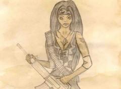 Fonds d'écran Art - Crayon gungirl