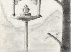 Fonds d'écran Art - Crayon bouddha