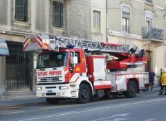 Fonds d'écran Transports divers Un camion de pompiers