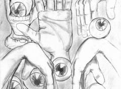 Fonds d'écran Art - Crayon les mains vivantes