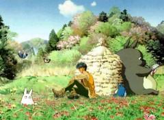 Fonds d'écran Manga Tamahomé & Totoro