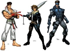 Wallpapers Comics Ryu, Solid Snake et Squall