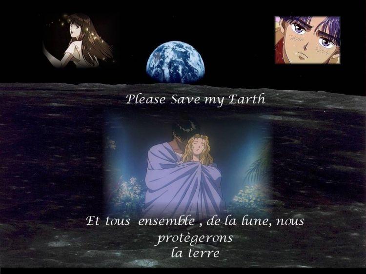 Fonds d'écran Manga Please Save My Earth Ancolie