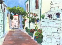 Fonds d'écran Art - Peinture Une ruelle à Chype