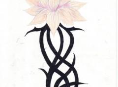 Fonds d'écran Art - Crayon les fleurs du mal