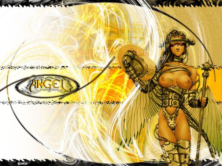Fonds d'écran Art - Numérique Femmes - Féminité Cyber Angel