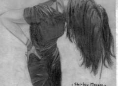 Fonds d'écran Art - Crayon Shirley Manson