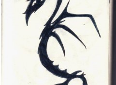 Wallpapers Art - Pencil dragon tribal