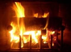 Fonds d'écran Nature feu de cheminée