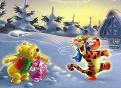 Fonds d'écran Dessins Animés Winnie à la neige