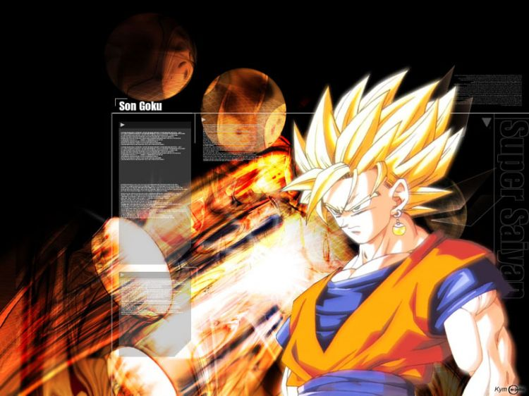 Wallpapers Manga Wallpapers Dragon Ball Z Goku Ssj2 By