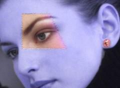 Wallpapers Digital Art girl en bleu
