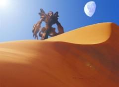 Fonds d'écran Jeux Vidéo StarCraft Protoss desert