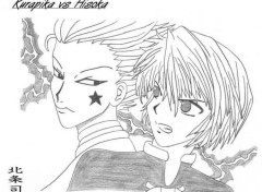 Wallpapers Art - Pencil kurapika vs hisoka