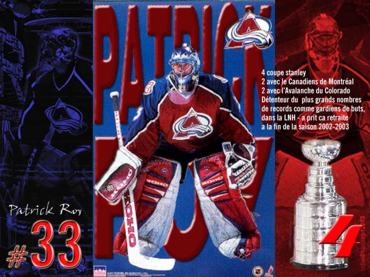 Wallpapers Sports - Leisures Hockey patrick roy 33 - le plus grand gardien québécois